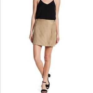 NWT BCBGeneration Faux Suede Wrap Skirt